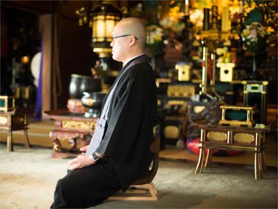 #4井上広法さん(光琳寺副住職)<br>「姿勢を整え、心を整える。」